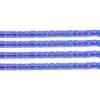 Delica 15/0 Rd Cobalt Blue Transparent Aurora Borealis